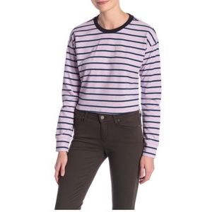 CODEXMODE Stripe Drop Shoulder Long Sleeve Top